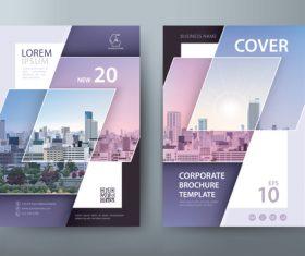 Famous brand corporate promotion brochure vector