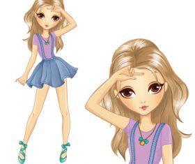 Fashion beautiful girl vector