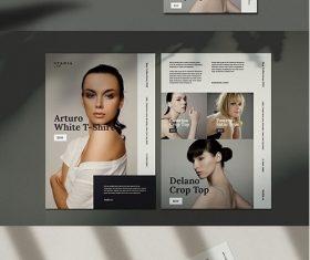 Fashion flyer template vector