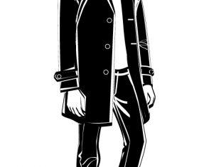Fashion male sketch vector