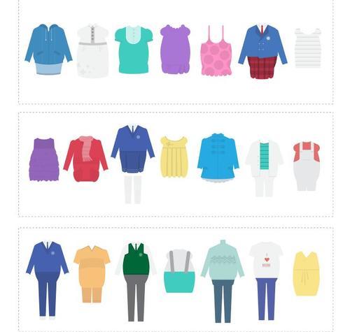 Fat Kids clothes vector
