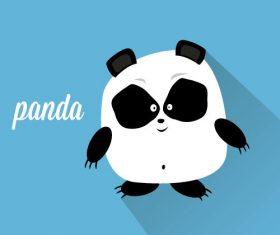 Fat panda icon vector