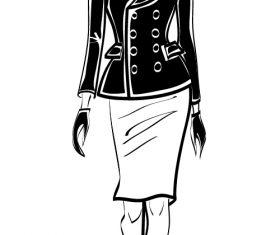 Female sketch vector
