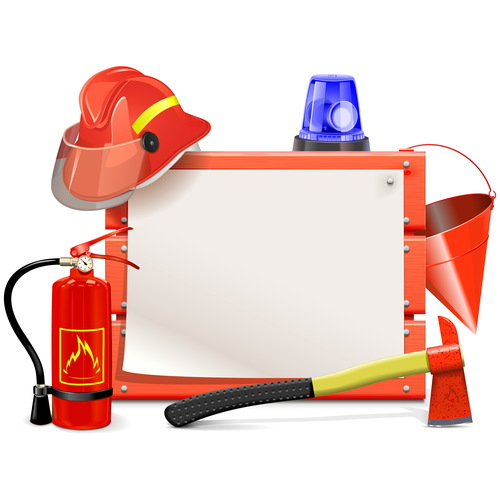 Firefighter board vector