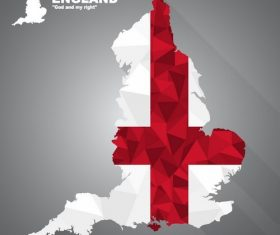 Flag vector on map of England