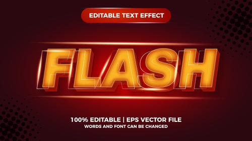 Flash comic editable text effect premium vector
