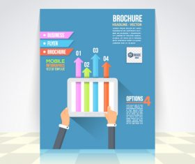 Flat style business infographic vector