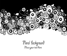 Flower black and white background vector