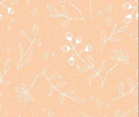 Flower bud background vector