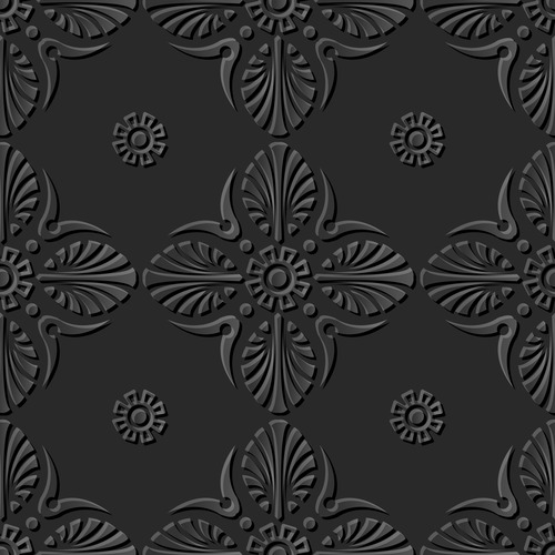 Flowers 3d patterns in vector