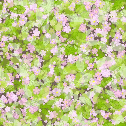 Fluttering flowers vector background