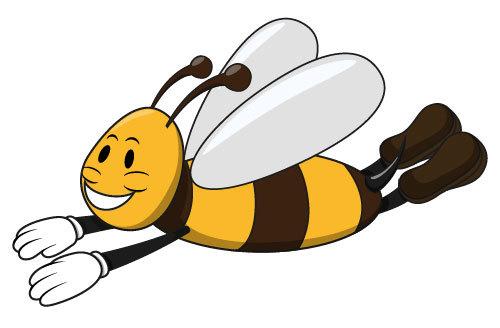 Flying bee icon vector