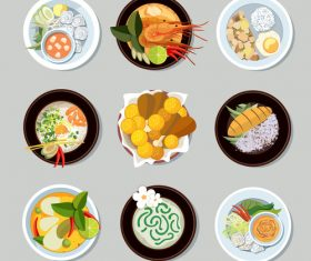 Food in icon vector