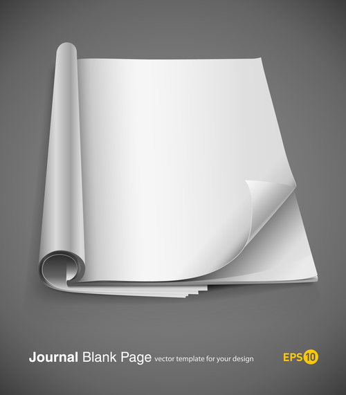 Foot curl blank page vector