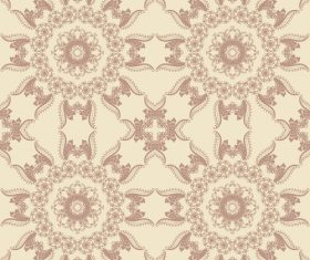 Four floral pattern seamless background vector