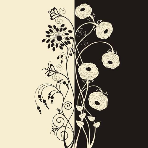 Frame flower background vector