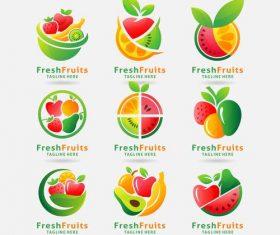 Fresh fruits logo vector