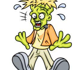 Frightened cartoon character vector