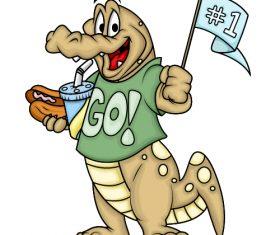 Funny crocodile cartoon vector
