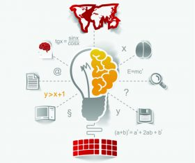 Genius idea infographic vector