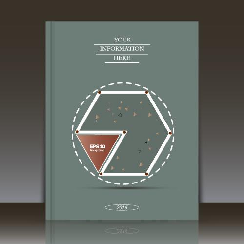 Geometric composition brochure background vector