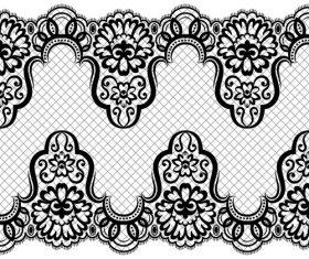Geometric figure flower knitting pattern vector