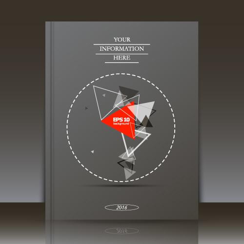 Geometric pattern brochure background vector