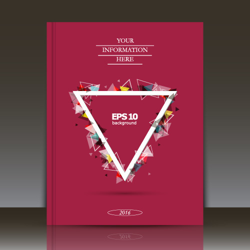 Geometric triangle pattern brochure background vector