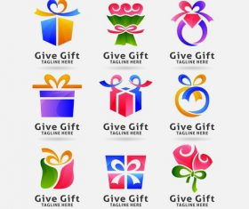 Gift logo vector