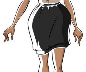 Girl model cartoon vector