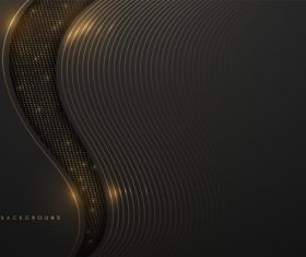 Gold thin line vector background