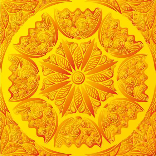 Golden seamless background vector