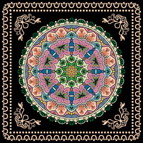 Good looking mandala fabric printing vector