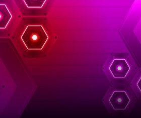 Gradient color hexagon background vector