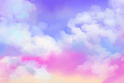 Gradient pastel sky vector background