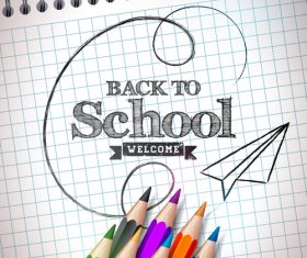 Graphic Back To School vector