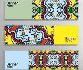 Graphic stylish banner vector background