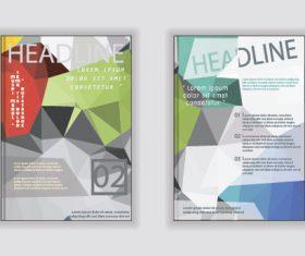 Gray-green A4 size brochure cover vector