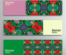 Green painted banner vector