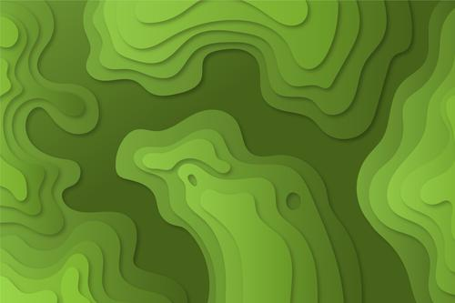 Green topographic abstract background vector