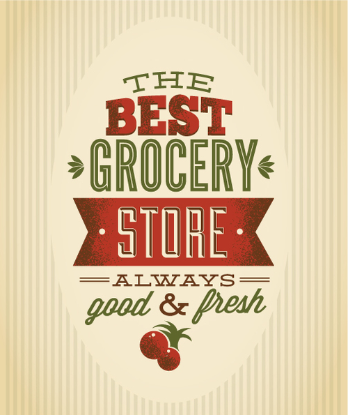 Grocery store card vector