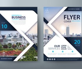 Growing a business flyer vector