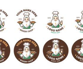 Halal bakery logo vector