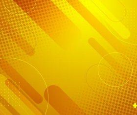 Halftone yellow background vector