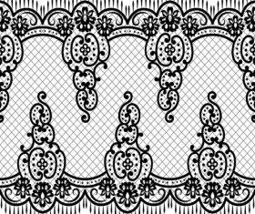 Hand drawn knitting pattern vector