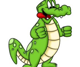 Happy crocodile cartoon vector
