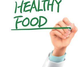 Healthy food doctor advise vector