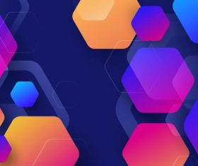 Hexagon colorful background vector