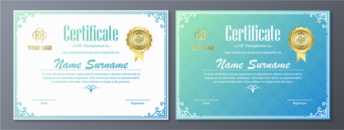 High quality certificate vector