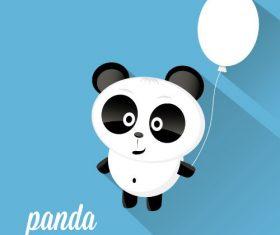 Holding balloon panda icon vector